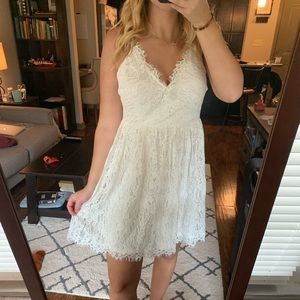 Nordstrom White Lace Dress
